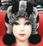 Пушистый и теплый шлем шерсти Hla-1 кролика