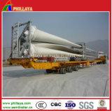 Do vento da lâmina 16m-45m Lowbed do caminhão reboque telescópico hidráulico Semi