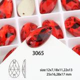 Il cristallo della parte posteriore piana cuce sulla pietra per la decorazione dei vestiti