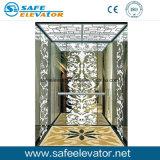 Золотистый лифт дома нержавеющей стали вытравливания зеркала