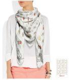 かわいいパターンDeisgnの絹のスカーフ
