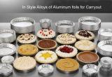 Cocina el papel de aluminio para el hogar