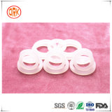 Weiches weißes Semitransparent Silikon-flache Ring-Dichtung