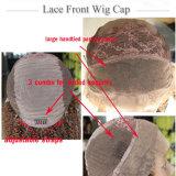 Capelli laterali dello Synthetic della parrucca dell'onda di scarsità del nero della parte di Dlme