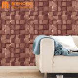 La decoración del hogar moderno de vinilo de PVC resistente al agua 3D Wallpaper