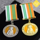 Kundenspezifische Metallpolizei-Militärzink-Legierungs-Decklack-Medaillen-Farbband