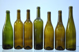 Las botellas de vidrio y botellas de vino y botellas de Burdeos/Burdeos botellas/botellas de champagne/botellas de vino de hielo