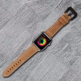 Estilo italiano de alta calidad genuina Correa de Reloj de cuero para Apple Watch Band