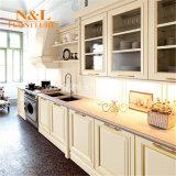 Armadio da cucina di legno solido di alta qualità con la maniglia Integrated