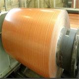 PE/PVDF het houten Blad/de Rol van het Aluminium van de Korrel Kleur Met een laag bedekte