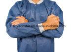 Blouses de laboratoire jetables PP Blanc/Blanc respirante jetables PP non tissé Blouse de laboratoire