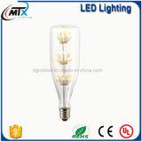 Novo design de forma especial a lâmpada estrelado LED Branco Quente com PAC