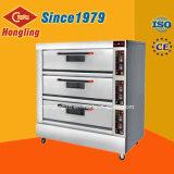 Honglingの卸売価格の3デッキの9皿の電気パン屋オーブン