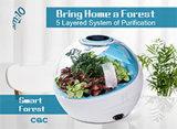 Очиститель воздуха для Plant-Based с фильтром HEPA фильтра с активированным углем подходит для дома, офиса и ванная комната.