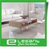 MDF кофейный столик с верхней стеклянной овальной формы