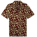 OEM는 주문 아프리카 왁스 면 Bambusa 다중송신방식 납결 염색법 하와이 셔츠를 서비스한다