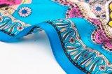 2017人の女性の印刷された絹のあや織りのスカーフ