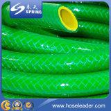 Boyau de jardin flexible procurable de PVC de couleur différente avec le pistolet de pulvérisation
