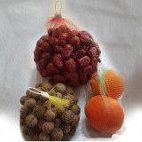 Sac de compensation tubulaire en plastique de maille pour le légume et le fruit