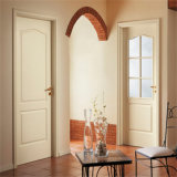 Carvalho de madeira maciça à prova de água a porta principal de abertura e fechamento de entrada com folheado de madeira