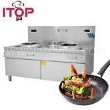 Induzione elettrica del bruciatore usata ristorante della cucina dell'intervallo del fornello di induzione elettrica singola doppia