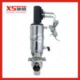 Válvula pneumática de parada e reversão sanitária com sensor de posição