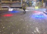 120W foco rojo azul sobrecarga grúa puente de luces de seguridad