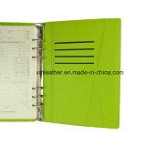 Het Schrijven van het Dagboek van het Leer van het Notitieboekje van de Ontwerper van de Agenda van de Bank van de macht Notitieboekje