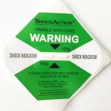 Het waarschuwen en van de Controle de Sticker van de Indicator van de Schok voor Verzending