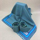 Handmade 100% soie tissée Cravate avec logo foulard assortis