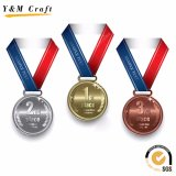 Бронзовые медали сплава цинка, пустые медали, дешевые медали спортов для оптовой продажи