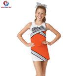 Il nuovo modo ha personalizzato la gioventù variopinta nera ed arancione di disegno di stampa di Mess di Cheerleading dell'uniforme