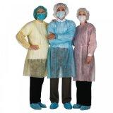 Vestido descartável do paciente do vestido do vestido da isolação dos PP do vestido cirúrgico