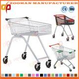 Металлический супермаркет бакалеи компакта провода регулируя тележку вагонетки покупкы (Zht207)