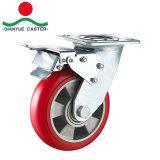 Heavy Duty PU sur roulette rigide en aluminium