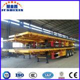 De Jushixin 40FT du bâti 3-Axle plat de conteneur remorque semi