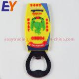 3D de goma PVC Abrebotellas con el tamaño estándar