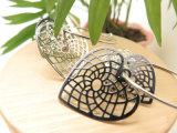 Серьга круга формы сердца листа бондаря подарка рождества подарка дня Valentine