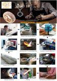 Ring van CZ van de Goede Kwaliteit van het nieuwe Product de In het groot Glanzende Dwars Zilveren (R11018)