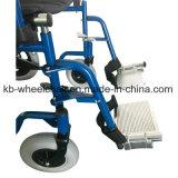 Sillón de ruedas manual portable, ligero, de acero