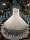 Aolanes una riga fuori dalla spalla vede attraverso il vestito da cerimonia nuziale