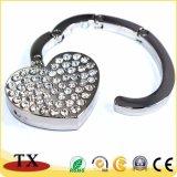 В форме сердечка сложенной спинке крючок вешалки для таблиц с алмазной