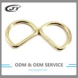 De dames vormen D-vormige ring van het Metaal van de Toebehoren van de Gesp van de Riem van de Handtas de Lichte Gouden Open