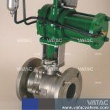 Pneumatisches Bediener-Form-Stahl-Flansch-Endanschluss-Kugelventil