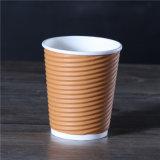 Commerce de gros ondulation imprimé personnalisé/Tripple Café mural Les tasses de papier