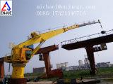 10 tonnes grue télescopique marine de paquet de bateau de boum de 15 tonnes