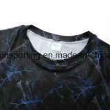남자의 Camo Lycra Rashguards 셔츠