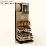 Visualización de madera de la tienda al por menor del estallido del estilo creativo caliente de la venta para Champán y las bebidas
