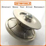 Паяемая вакуумом рука диаманта профилируя колесо