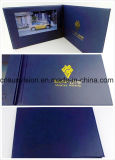 """10.1 """" A4 두꺼운 표지의 책 PU 사업 브로셔 영상 우송자 카드"""